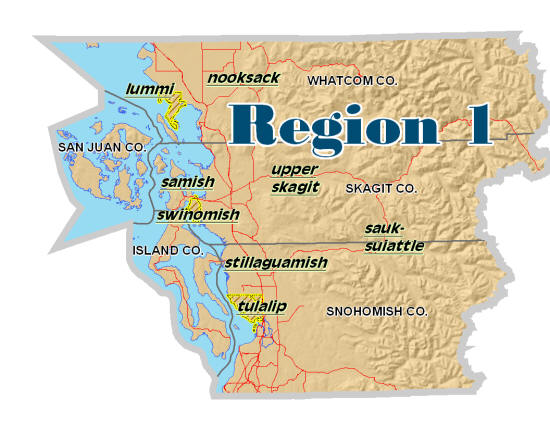 WA HLS Region 1 Tribes Map